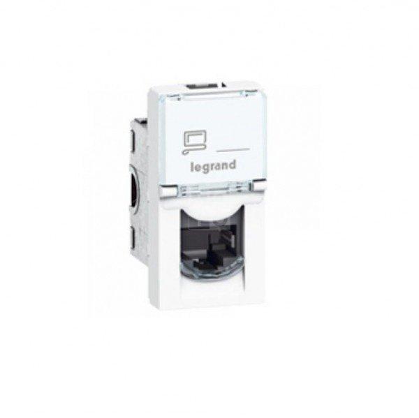 Купить Опции к пассивному сетевому оборудованию, Розетка MOSAIC Legrand информационная RJ45 UTP кат.5E LCS2 (1 модуль), цвет Белый