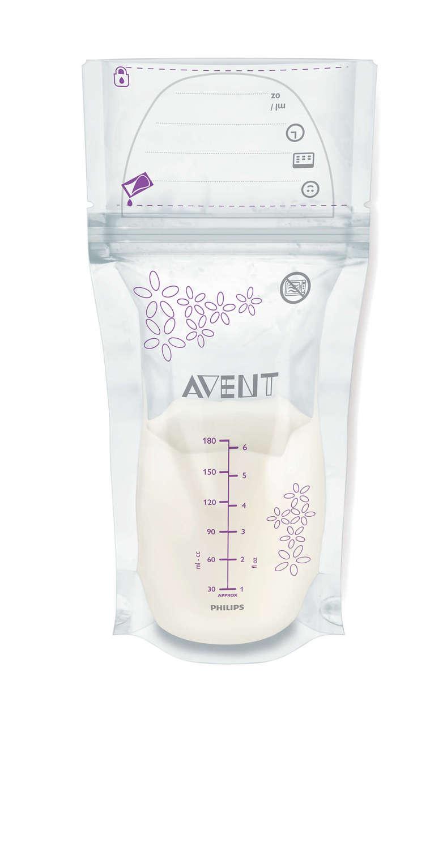 Пакеты для хранения грудного молока AVENT 180мл 25шт (SCF603/25) фото 1