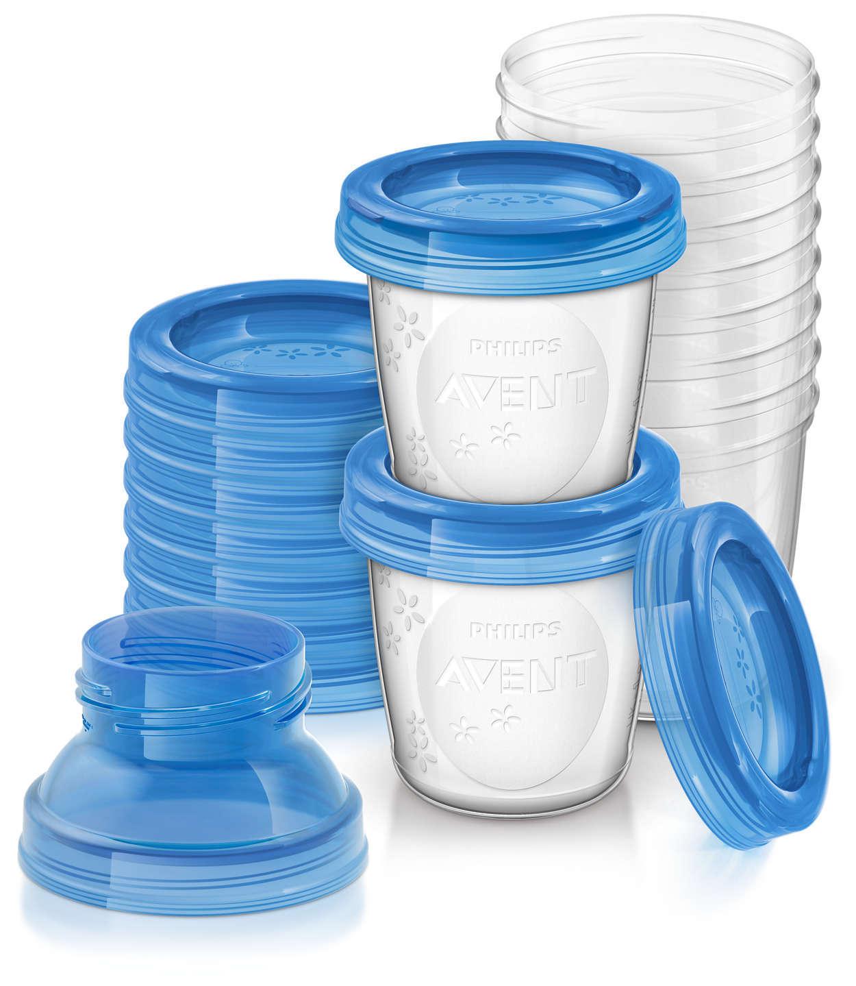 Контейнеры для хранения грудного молока AVENT (SCF618/10) фото 1