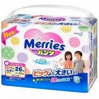 Детские подгузники-трусики Merries XXL 15-28кг 26шт (584751/570399)