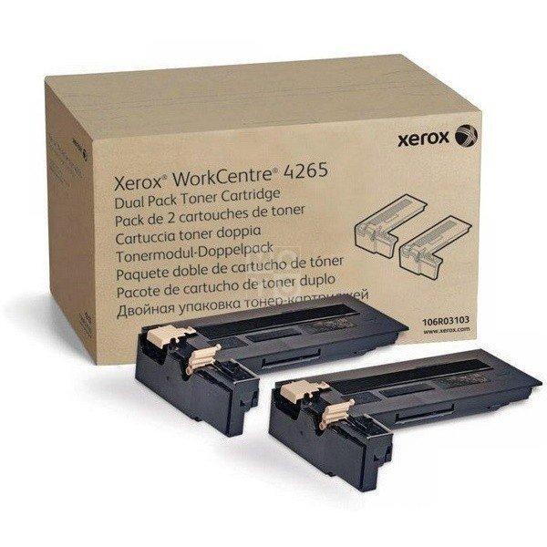 Тонер-картридж лазерный Xerox WC4265, 2*25000 стр (106R03103) фото 1