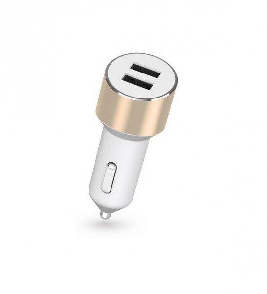 Купить ЗУ авто МС Kit Platinum Dual USB Charger (USB 3.4 Amp), Gold