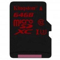 Карта памяти Kingston microSDXC 64GB Class 10 UHS-I U3 R90/W80MB/s 4K