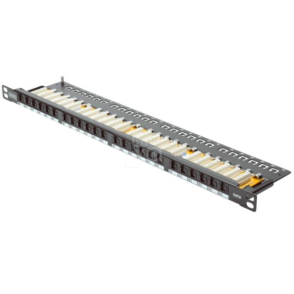 Купить Патч-панель DIGITUS 19 0.5U, 24 порта, cat 6 UTP в сборе (DN-91624U-SL-SH)