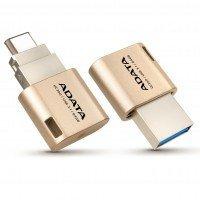 Накопичувач USB 3.1 ADATA Gen1 Type-A/Type-C UC350 64GB Gold (AUC350-64G-CGD)