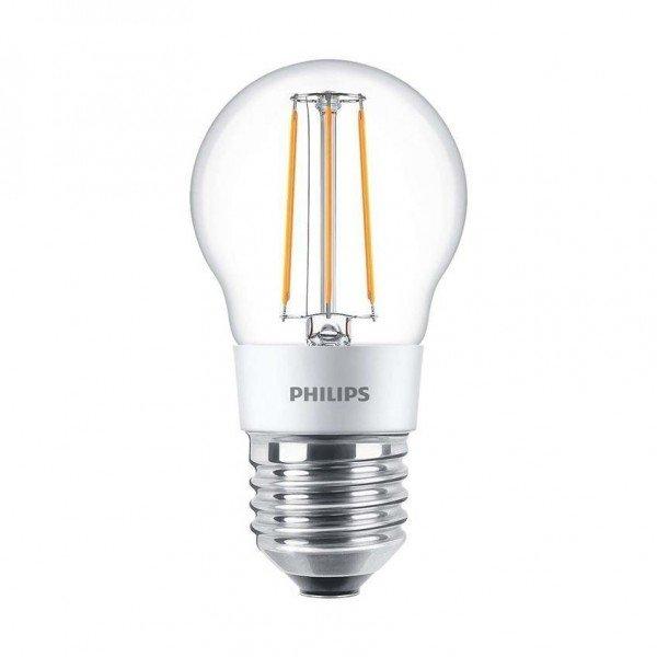 Купить Лампа светодиодная декоративная Philips LED Fila Dim E27 4.5-50W 2700K 230V P45 CL, PHILIPS LFD