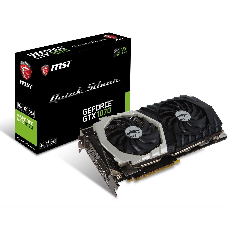 Видеокарта MSI GeForce GTX 1070 8GB GDDR5 Quick Silver 8G OC  (GF_GTX_1070_QS_8G_OC) фото 1