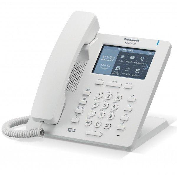 Стационарные телефоны, Проводной IP-телефон Panasonic KX-HDV330RU White  - купить со скидкой