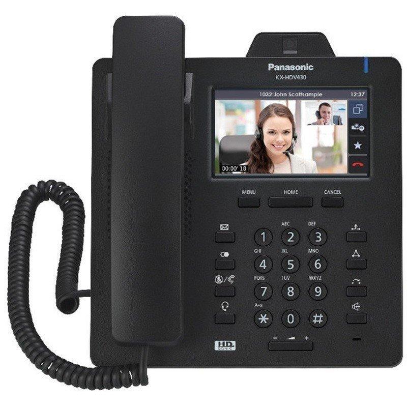 Проводной IP-видеотелефон Panasonic KX-HDV430RUB Black для PBX KX-HTS824RU фото