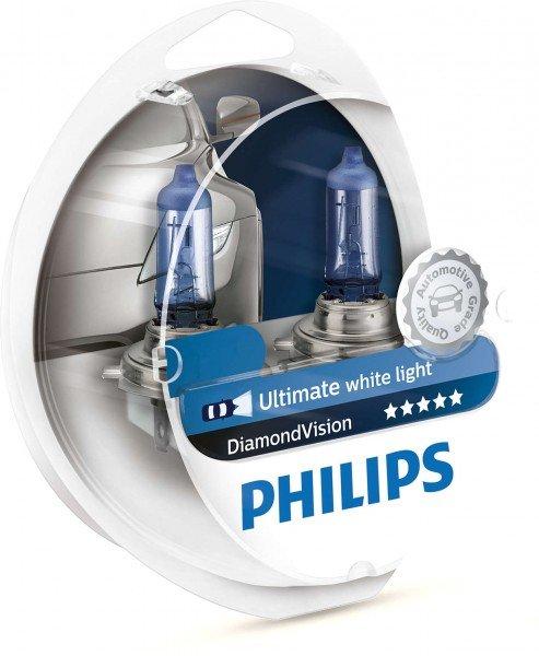 Лампа галогеновая Philips H4 Diamond Vision (12342DVS2)