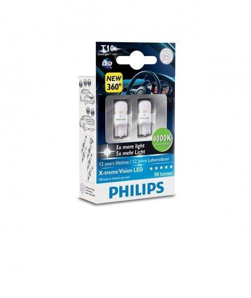 Лампа светодиодная Philips W5W X-Treme Vision LED (127994000KX2)