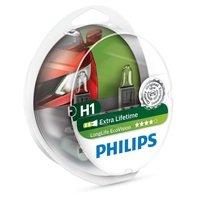 Лампа галогеновая Philips H1 LongLife EcoVision (12258LLECOS2)