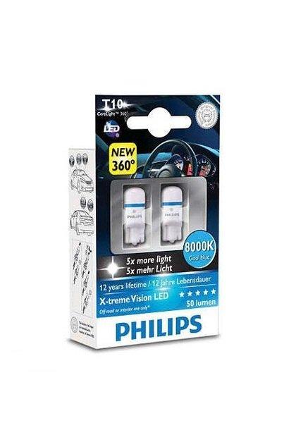 Купить Автолампы, Лампа светодиодная Philips W5W X-Treme Vision LED (127998000KX2), PHILIPS Automotive