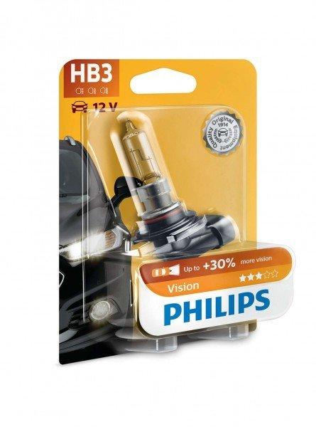 Купить Лампа галогеновая Philips HB3 Vision (9005PRB1), PHILIPS Automotive