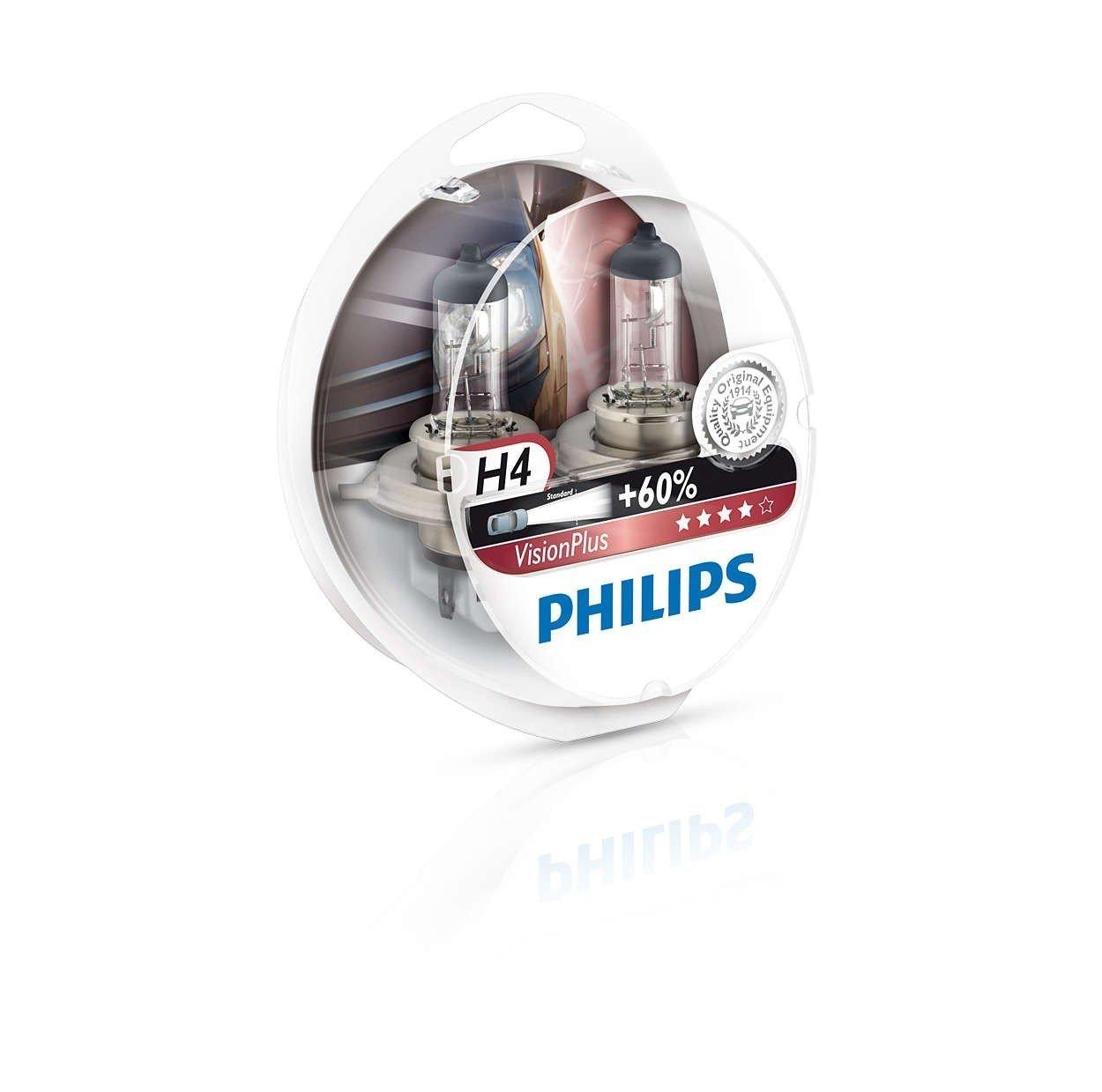 Лампа галогеновая Philips H4 VisionPlus (12342VPS2) фото