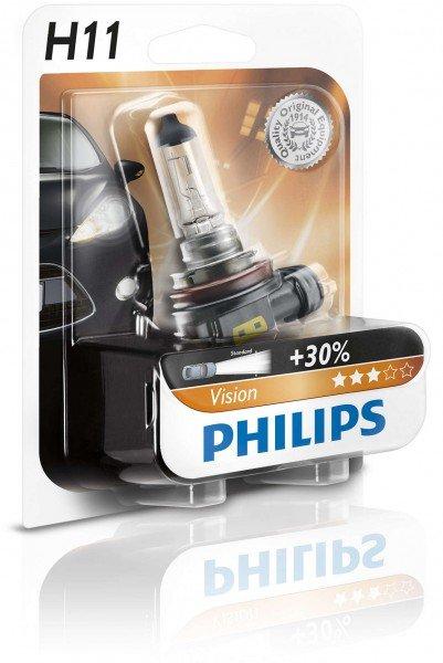 Купить Лампа галогеновая Philips H11 Vision (12362PRB1), PHILIPS Automotive