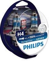 Лампа галогеновая Philips H4 RACING VISION +150% (12342RVS2)
