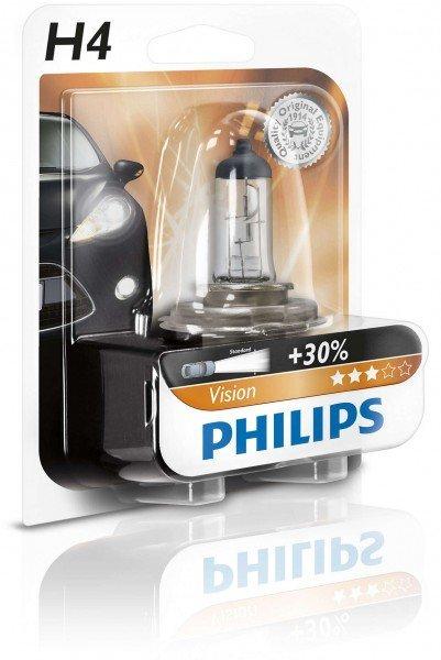 Купить Лампа галогеновая Philips H4 Vision (12342PRC2), PHILIPS Automotive