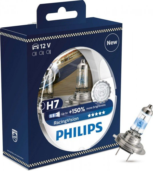 Купить Лампа галогеновая Philips H7 RACING VISION +150% (12972RVS2), PHILIPS Automotive