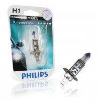 Лампа галогеновая Philips H1 X-treme VISION +130% (12258XV+B1)