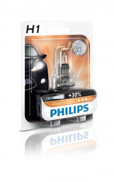 Купить Лампа галогеновая Philips H1 Vision (12258PRB1), PHILIPS Automotive