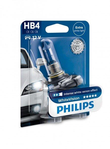Лампа галогеновая Philips HB4 WhiteVision +60% (9006WHVB1)