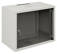 """Шкаф ZPAS 19"""" 12U 600x400, стекл. дверь, 30kg max, серый"""