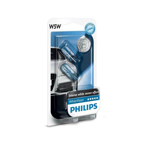 Купить Лампа накаливания Philips W5W WhiteVision (12961NBVB2), PHILIPS Automotive