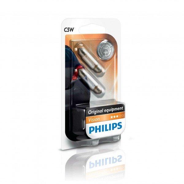 Купить Автолампы, Лампа накаливания Philips C5W (12844B2), PHILIPS Automotive