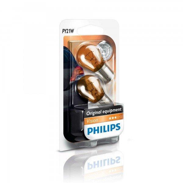 Лампа накаливания Philips PY21W (12496NAB2), PHILIPS Automotive  - купить со скидкой