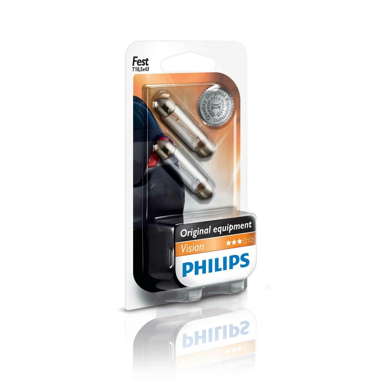 Лампа накаливания Philips Festoon T10.5X43 (12866B2) фото 1
