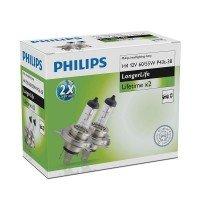Лампа галогеновая Philips H4 LongLife (12342ELC2)