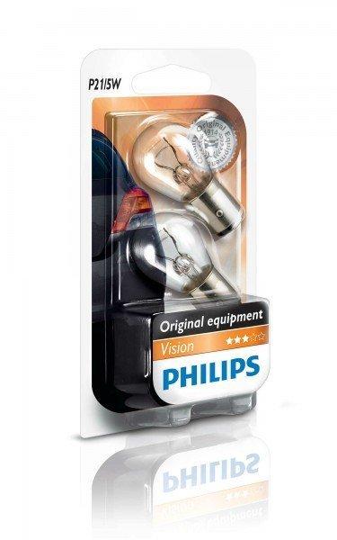 Купить Автолампы, Лампа накаливания Philips P21/5W (12499B2), PHILIPS Automotive