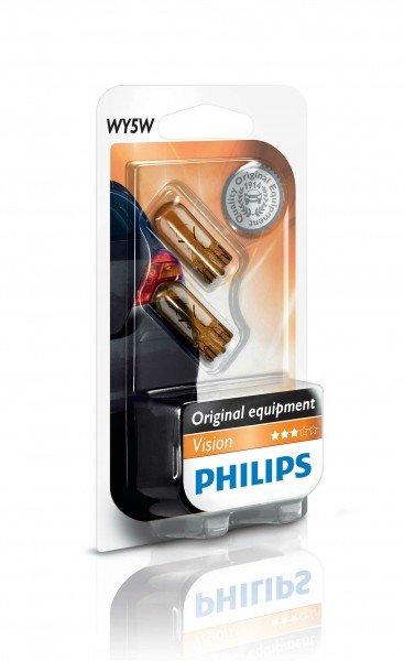 Купить Автолампы, Лампа накаливания Philips WY5W (12396NAB2), PHILIPS Automotive