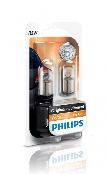 Купить Автолампы, Лампа накаливания Philips R5W (12821B2), PHILIPS Automotive