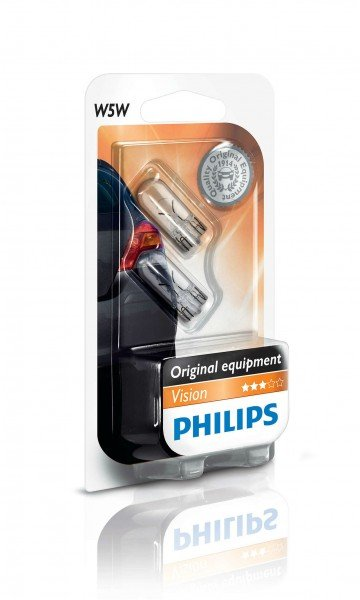 Купить Лампа накаливания Philips W5W (12961B2), PHILIPS Automotive