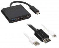 Переходник Kit 3.1 USB-C to HDMI Adaptor F Type-C Adaptor USB-A 3.0 port