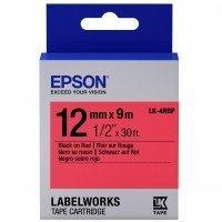 Картридж с лентой Epson LK4RBP принтеров LW-300/400/400VP/700 Pastel Black/Red 12mm/9m (C53S654007)