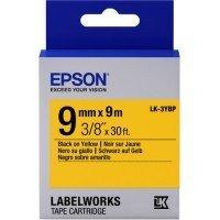Картридж с лентой Epson LK3YBP принтеров LW-300/400/400VP/700 Pastel Blk/Yell 9mm/9m (C53S653002)