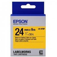 Картридж с лентой Epson LK6YBP принтеров LW-700 Pastel Blk/Yell 24mm/9m (C53S656005)