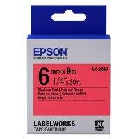 Картридж с лентой Epson LK2RBP принтеров LW-300/400/400VP/700 Pastel Blk/Red 6mm/9m (C53S652001)