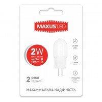 Светодиодная лампа MAXUS G4 2W 3000K 12V AC/DC (1-LED-207)
