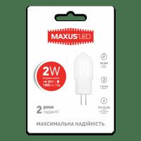 Светодиодная лампа MAXUS G4 2W 4100K 12V AC/DC (1-LED-208)