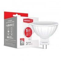 Светодиодная лампа MAXUS MR16 5W 4100K 220V GU5.3