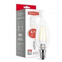Светодиодная лампа MAXUS C37 FM-T 4W яркий свет 220V E14 (1-LED-540-01)