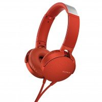 Наушники Sony MDR-XB550AP mic Red