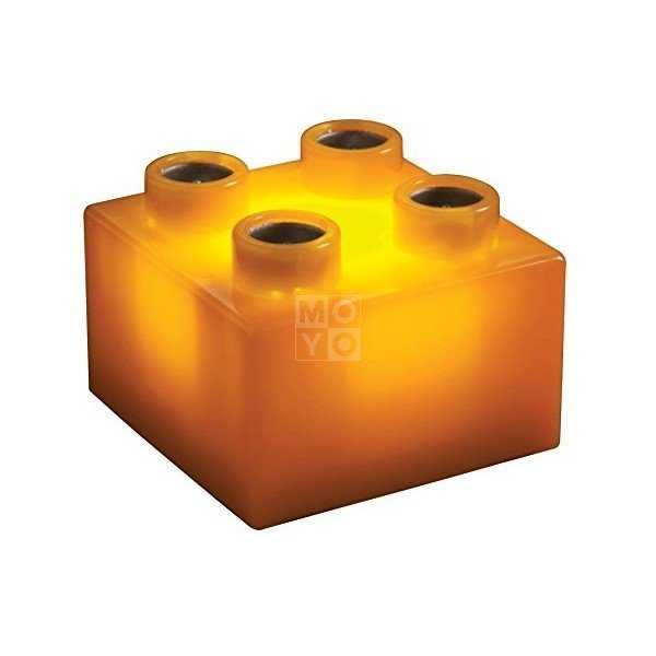 Акция на Конструктор Light Stax с LED подсветкой Junior оранжевый 1 эл. 2х2 (LS-S11909-OG) от MOYO