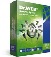 Антивирус Dr.Web Security Space 3 ПК 12 месяцев