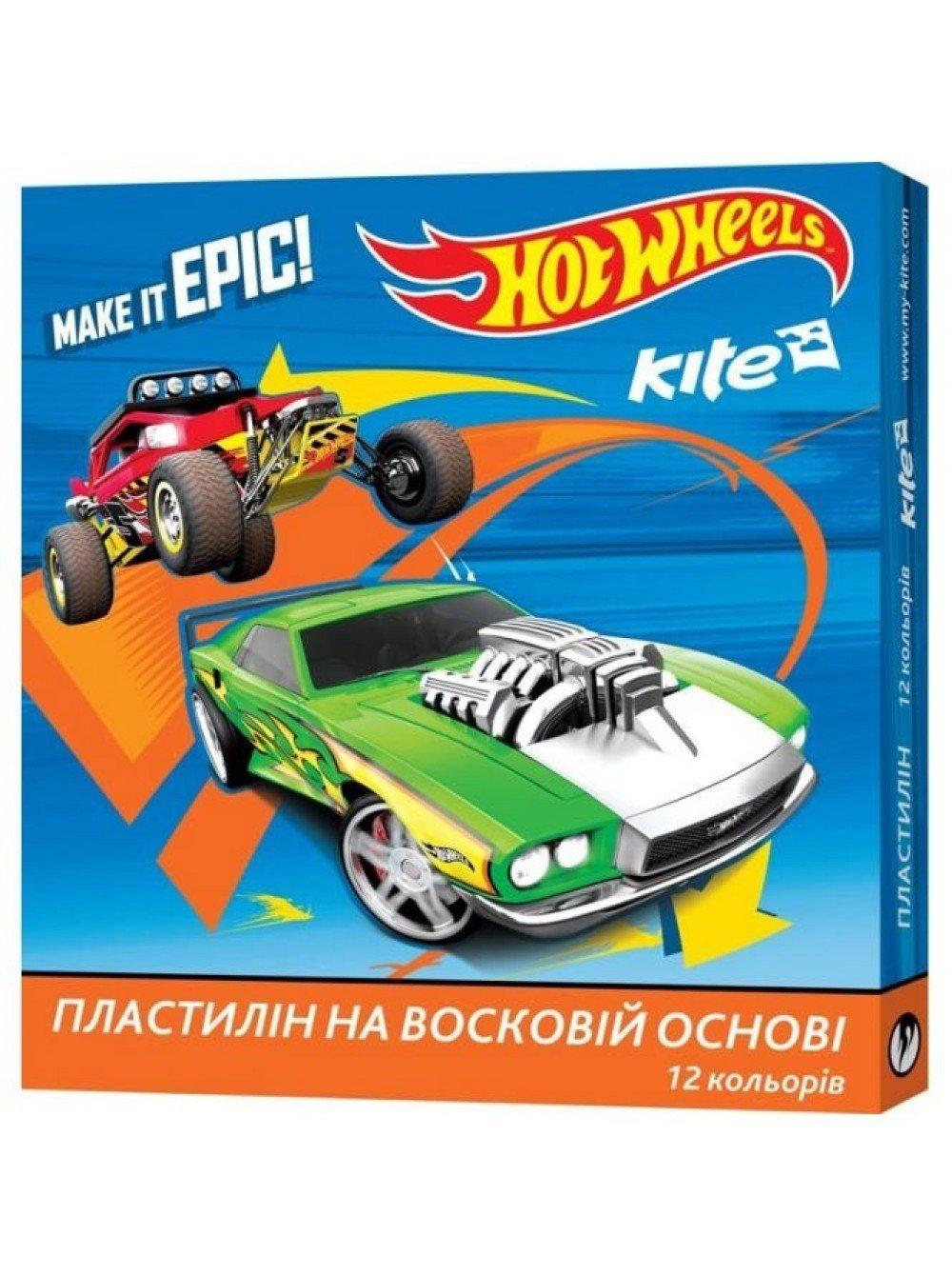 Пластилин восковый Kite Hot Wheels 12 цветов 240г (HW17-1086) фото 1 6fca2191cfc92