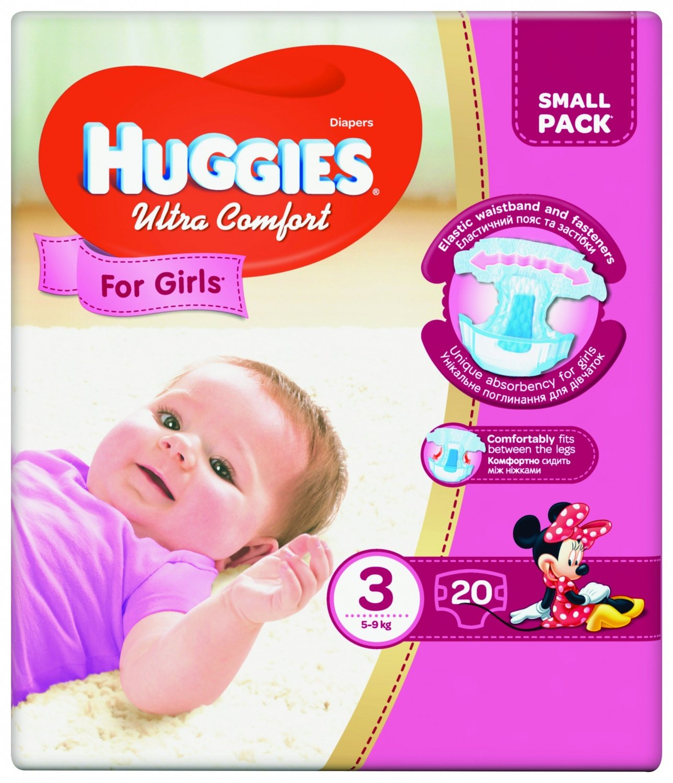 868b13b2233b Подгузники Huggies ULTRA COMFORT 3 Small для девочек 20 шт (5029053565415)  фото 1
